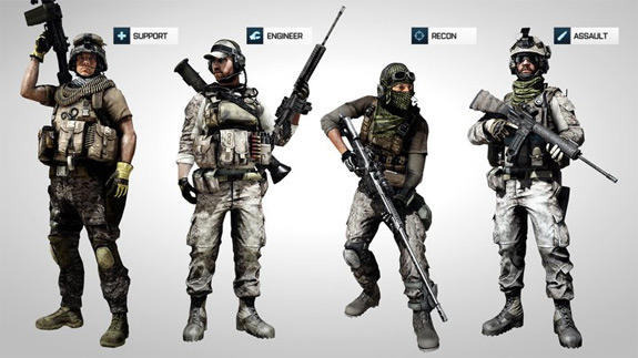 Battlefield 3 (BF3) Multiplayer Kit Unlocks for Assault, Engineer, Support, Recon and Co-op on PC, PS3, Xbox 360