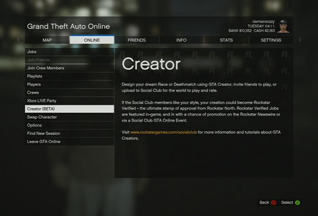 2ad202c5266334 Content creator - Creator (beta) - Grand Theft Auto Online - Game Guide and
