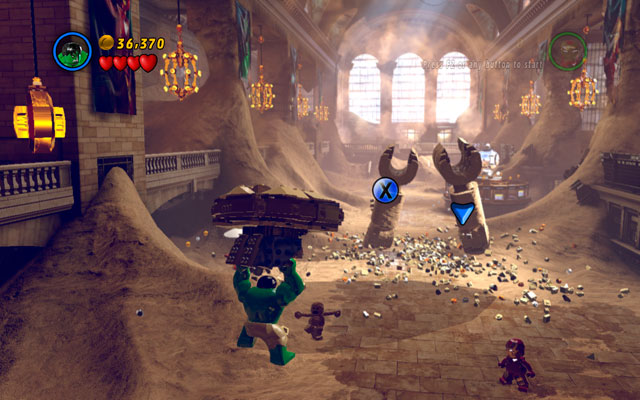 In next location choose Hulk - Sand Central Station - Walkthrough - LEGO Marvel Super Heroes - Game Guide and Walkthrough