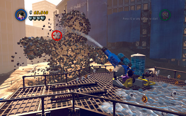 Climb on the rope and once more turn Bruce into a savage monster - Sand Central Station - Walkthrough - LEGO Marvel Super Heroes - Game Guide and Walkthrough