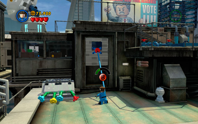 On the roof turn right and jump down as Mr - Times Square Off - Walkthrough - LEGO Marvel Super Heroes - Game Guide and Walkthrough