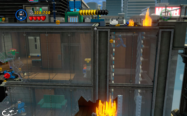 Pass to the other building and kill all octobots in the area - Times Square Off - Walkthrough - LEGO Marvel Super Heroes - Game Guide and Walkthrough