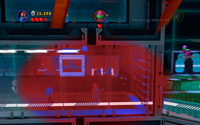 Pass through the corridor and fight you way among the enemies - Exploratory Laboratory - Walkthrough - LEGO Marvel Super Heroes - Game Guide and Walkthrough
