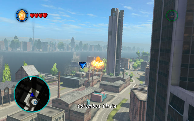 After the fight with Red Skull in mission Red Head Detention, go to the passage to the Bifrost - you will find it at the seaside near to Fisk Tower - New York - Walkthrough - LEGO Marvel Super Heroes - Game Guide and Walkthrough