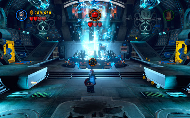 Third stage of the fight looks very similar - the only difference is a reversal of the sides of the arena - Red Head Detention - Walkthrough - LEGO Marvel Super Heroes - Game Guide and Walkthrough