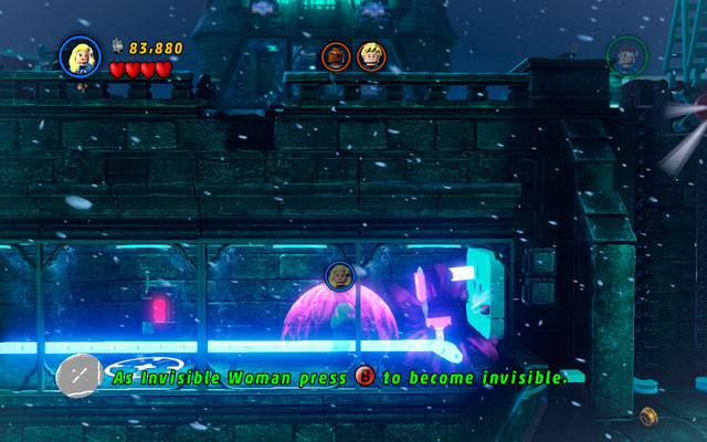 Enter to the control room and kill an enemy, so you can put a plug out from the socket - in this way you will turn the camera off - Doctor in the House - Walkthrough - LEGO Marvel Super Heroes - Game Guide and Walkthrough