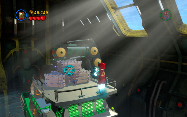 Defeat another group of enemies, heading to the right side of the hangar - That Sinking Feeling - Walkthrough - LEGO Marvel Super Heroes - Game Guide and Walkthrough