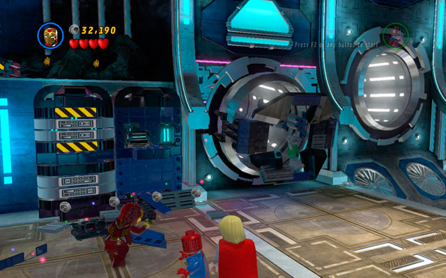 In next room defeat all opponents, then destroy all objects lying in the area - Magnetic Personality - Walkthrough - LEGO Marvel Super Heroes - Game Guide and Walkthrough