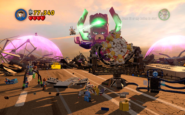 Third sequence is more sophisticated - Galactus - Boss fights - LEGO Marvel Super Heroes - Game Guide and Walkthrough
