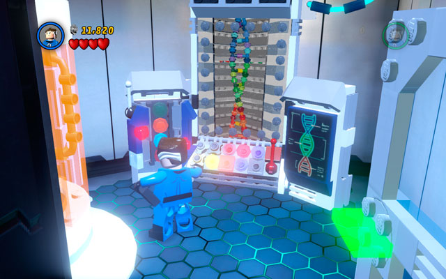 Choose Magneto and enter to the one of the first laboratories, looking for the big batteries - Exploratory Laboratory - Minikit Sets - LEGO Marvel Super Heroes - Game Guide and Walkthrough