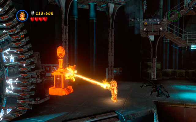 To obtain this minikit, you must melt five golden altars of Hydra, located in the interior of the building - Red Head Detention - Minikit Sets - LEGO Marvel Super Heroes - Game Guide and Walkthrough