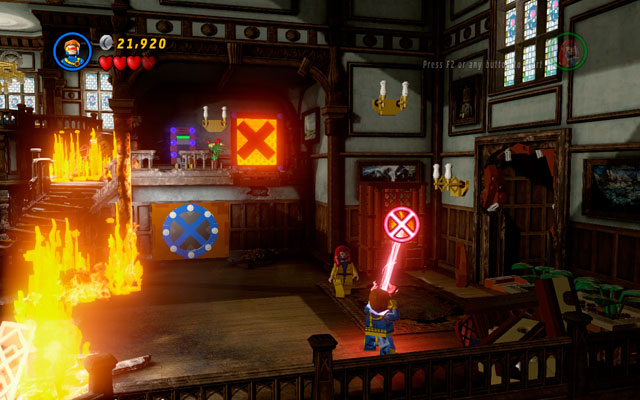 Enter the X-Mansion and rescue two groups of students as it is described in the walkthrough part of this guide - Juggernauts and Crosses - Minikit Sets - LEGO Marvel Super Heroes - Game Guide and Walkthrough