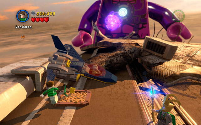 Stan Lee can be saved during the last part of the fight with Galactus - The Main Campaign - Stan Lee in Peril - LEGO Marvel Super Heroes - Game Guide and Walkthrough