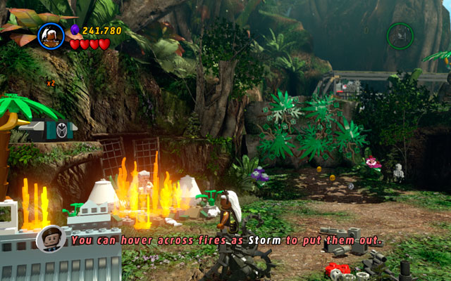 This time Stan Lee can be found in the location with aeroplane - poor man is surrounded by the flames - The Main Campaign - Stan Lee in Peril - LEGO Marvel Super Heroes - Game Guide and Walkthrough