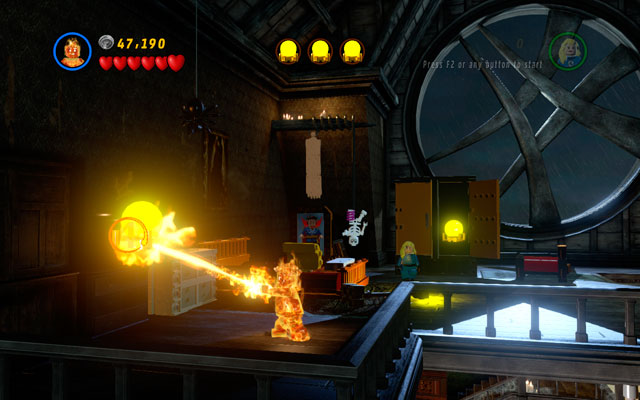 Use Human Torch to melt three targets - now you can go downstairs and face the enemy - Stranger Danger - Deadpool Bonus Missions: Walkthrough - LEGO Marvel Super Heroes - Game Guide and Walkthrough
