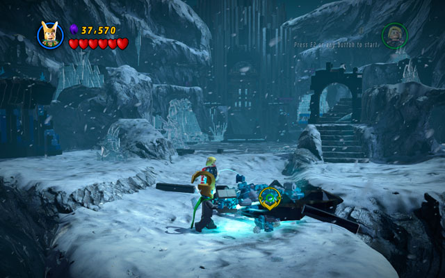 Go to the black stone, placed in the middle of the location - Bro-tunheim - Deadpool Bonus Missions: Walkthrough - LEGO Marvel Super Heroes - Game Guide and Walkthrough