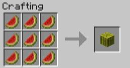Minecraft game guide walkthroughm converting the melon into the form of a block food crafting recipes forumfinder Images