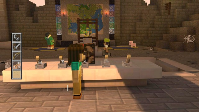 how to finish minecraft storymode order up lever and pistons