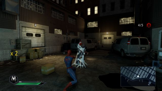 Web shooting immobilizes the opponent - On the trail of a killer! - Walkthrough - The Amazing Spider-Man 2 - Game Guide and Walkthrough