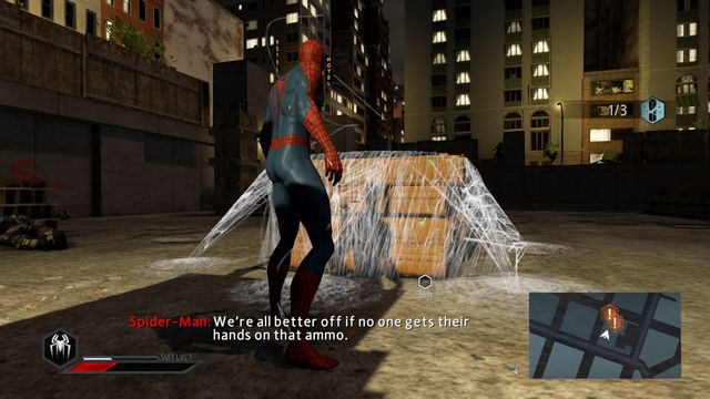 Secure the crates - On the trail of a killer! - Walkthrough - The Amazing Spider-Man 2 - Game Guide and Walkthrough