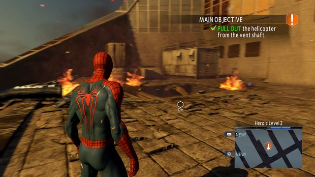 The rooftop on the OSCROP HQ - Raid on OSCORP - Walkthrough - The Amazing Spider-Man 2 - Game Guide and Walkthrough