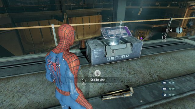 Mark the devices - Raid on OSCORP - Walkthrough - The Amazing Spider-Man 2 - Game Guide and Walkthrough