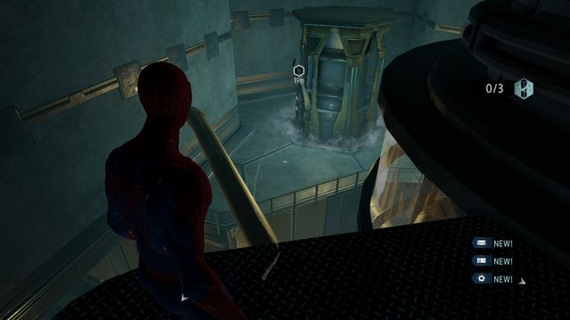 Shoot the poles down with the web - Raid on OSCORP - Walkthrough - The Amazing Spider-Man 2 - Game Guide and Walkthrough