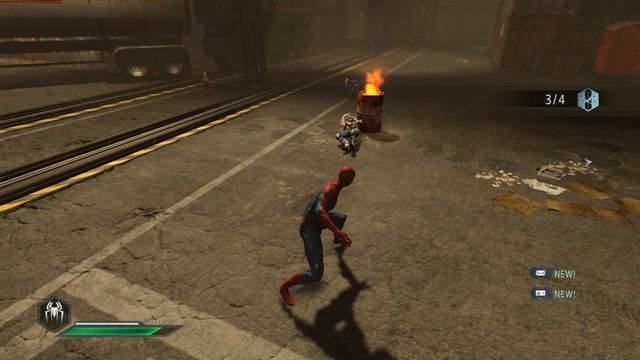 Blow up the barrel and entangle the opponents - No one is safe! - Walkthrough - The Amazing Spider-Man 2 - Game Guide and Walkthrough