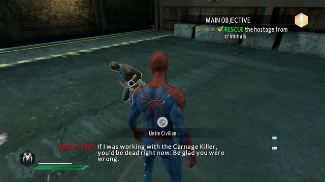 Free the hostage - No one is safe! - Walkthrough - The Amazing Spider-Man 2 - Game Guide and Walkthrough