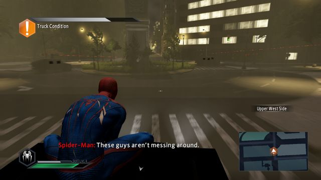 Armored trucks - Claws of the cat! - Walkthrough - The Amazing Spider-Man 2 - Game Guide and Walkthrough