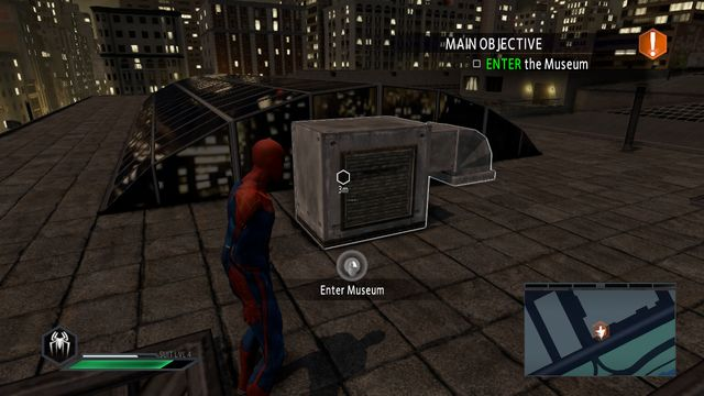The museums venting shaft - Claws of the cat! - Walkthrough - The Amazing Spider-Man 2 - Game Guide and Walkthrough
