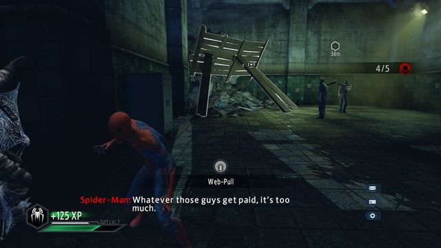 The beams in the corner of the room - The Kingpin of crime! - Walkthrough - The Amazing Spider-Man 2 - Game Guide and Walkthrough