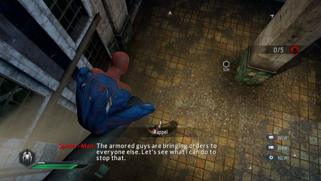 The hole in the roof - The Kingpin of crime! - Walkthrough - The Amazing Spider-Man 2 - Game Guide and Walkthrough