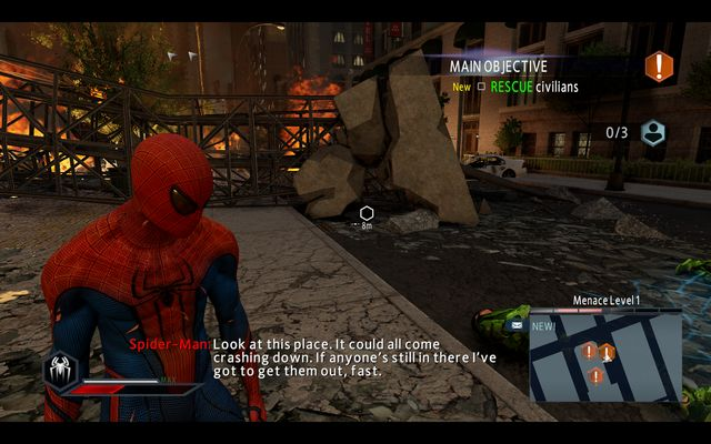 A civilian under the rubble - The Green Goblin! - Walkthrough - The Amazing Spider-Man 2 - Game Guide and Walkthrough