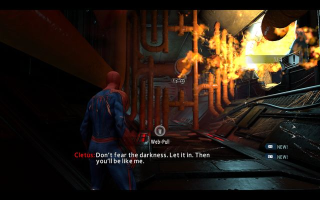 The flame activating lever - Maximum Carnage! - Walkthrough - The Amazing Spider-Man 2 - Game Guide and Walkthrough