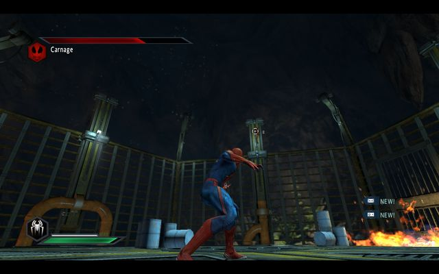 The opponent on a pole - Maximum Carnage! - Walkthrough - The Amazing Spider-Man 2 - Game Guide and Walkthrough