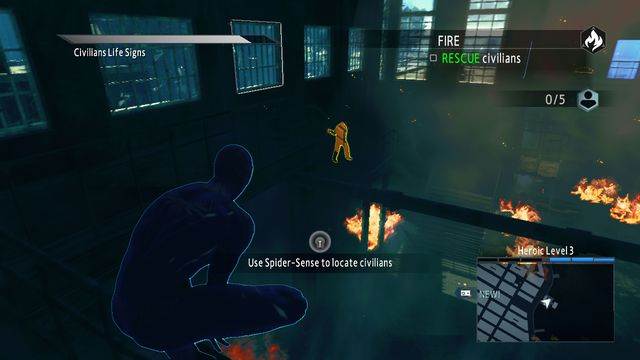 A flaming building - Optional missions - The Amazing Spider-Man 2 - Game Guide and Walkthrough