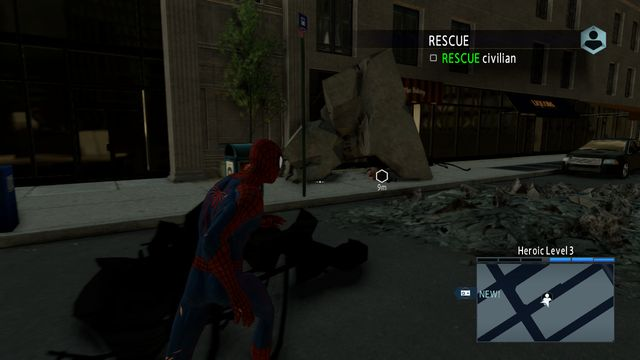 A man trapped under debris - Optional missions - The Amazing Spider-Man 2 - Game Guide and Walkthrough