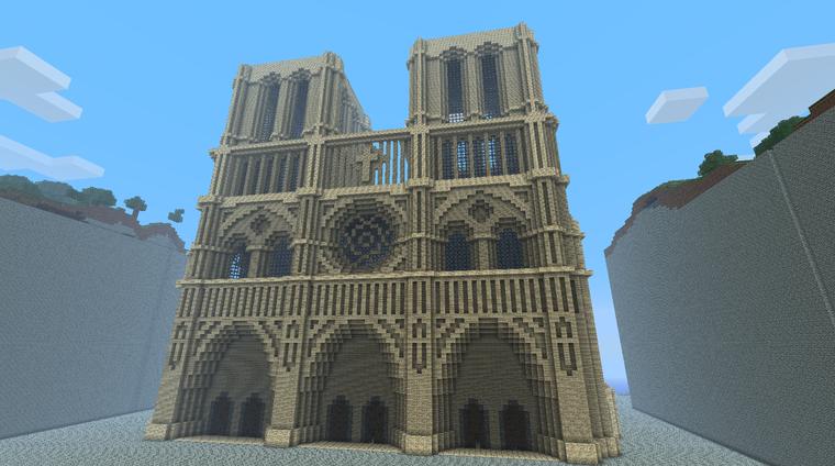 Minecraft Top 10 Famous Monuments Notre Dame Disney