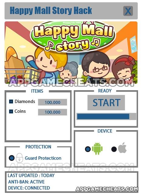 Happy Mall Story Tips Cheats For Diamonds Coins Appgamecheats