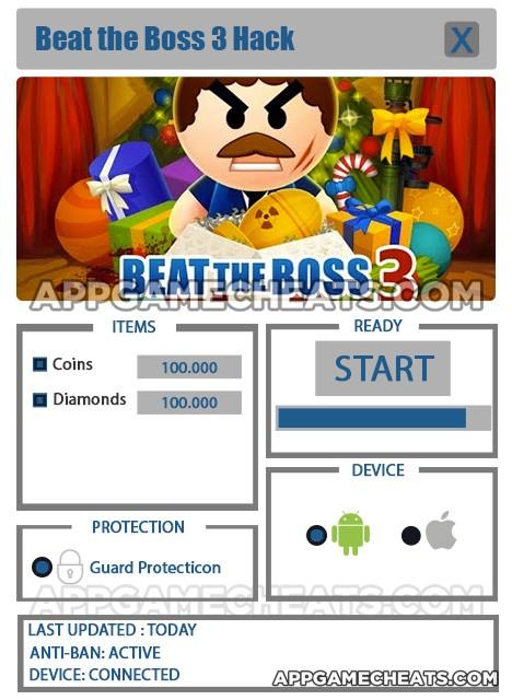beat-the-boss-three-cheats-hack-coins-diamonds