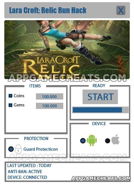 lara croft relic run hack free download