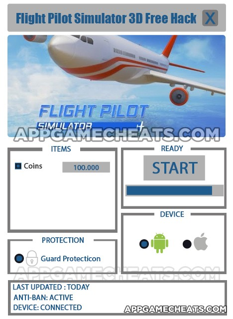 Flight Pilot Simulator 3D Hack Cheats Tool - Snackygame