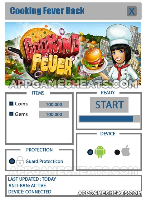 Cooking Fever Cheats Coins Gems
