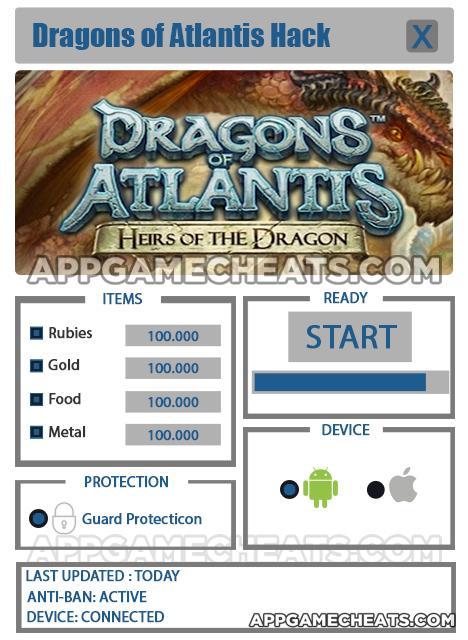Dragons Of Atlantis Heirs Cheats Hack For Gold Rubies Food Metal Appgamecheats Com Comprehensive