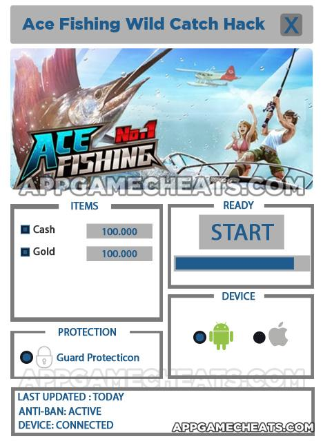 Ace fishing wild catch cheat for gold and cash for Ace fishing cheats