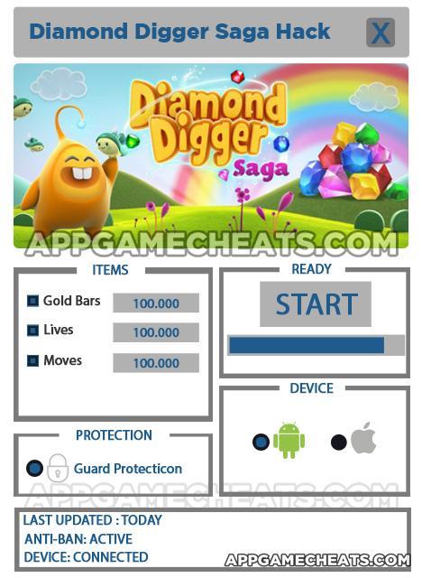 download game diamond digger saga mod apk