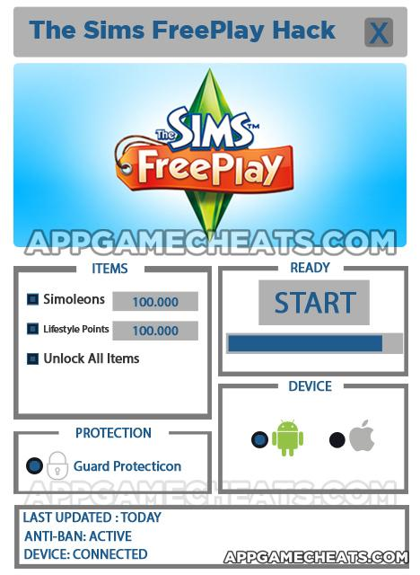 sims freeplay cheats for android tablet