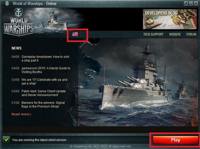 Game client that is ready to play should look similarly to the one shown on the picture above - Registering, logging in, managing account - World of Warships - Game Guide and Walkthrough