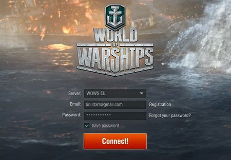 The last phase before starting the game is logging in directly to the server - Registering, logging in, managing account - World of Warships - Game Guide and Walkthrough